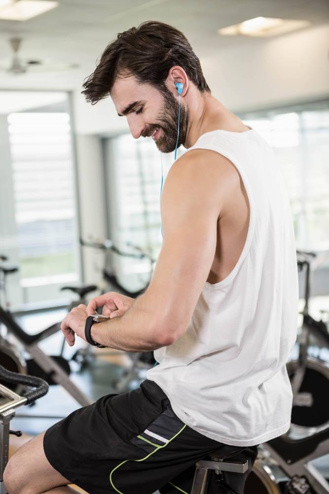 Męski zegarek sportowy na siłownię