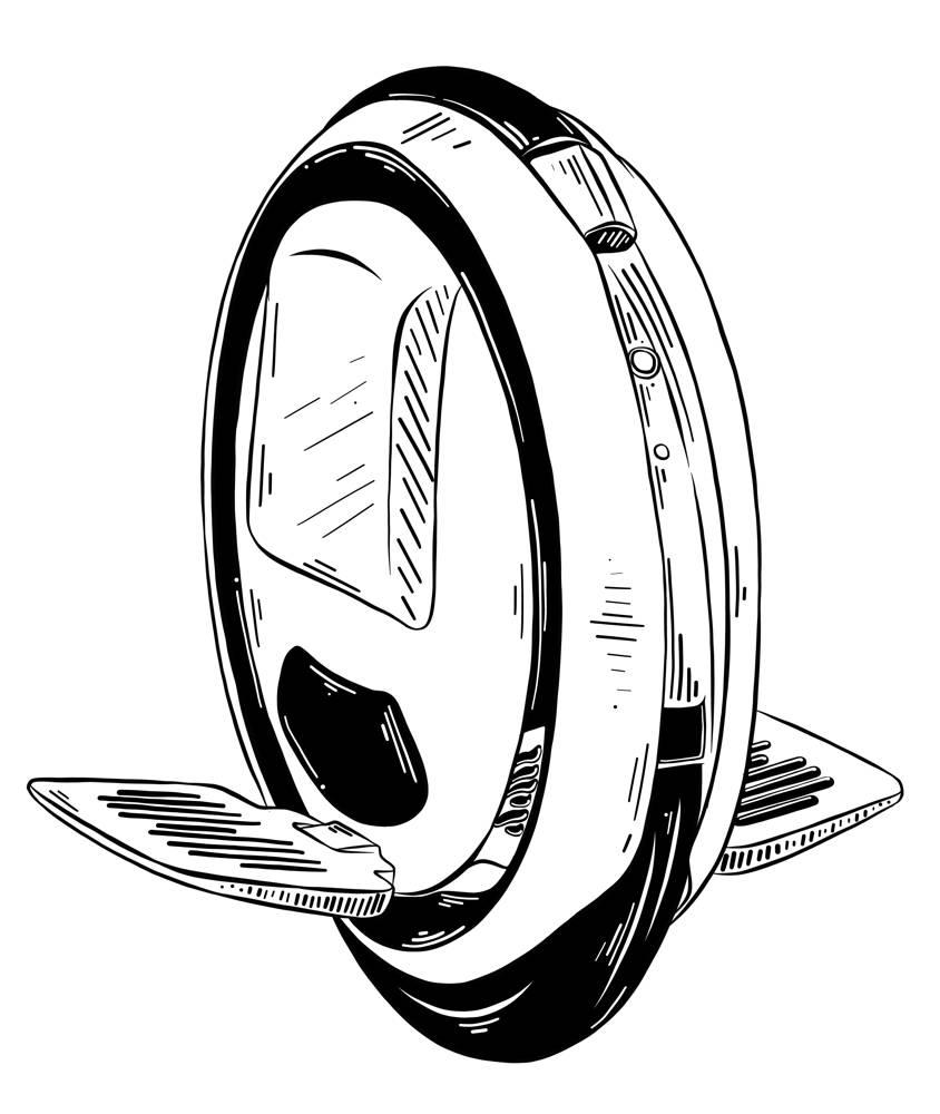 Monocykl elektryczny hulajnoga ne jednym kole