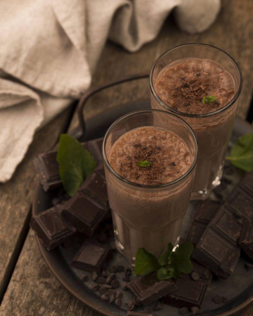 Shake białkowy o smaku czekoladowym