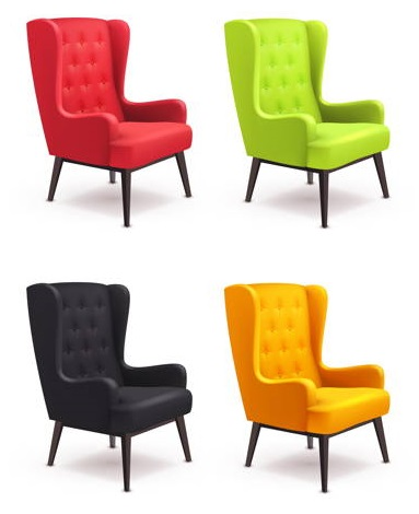 Fotel uszak w różnych kolorach