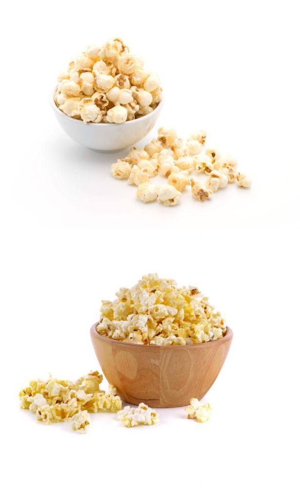 Popcorn w zalęzności od technologii prażenia w maszynie do popcornu
