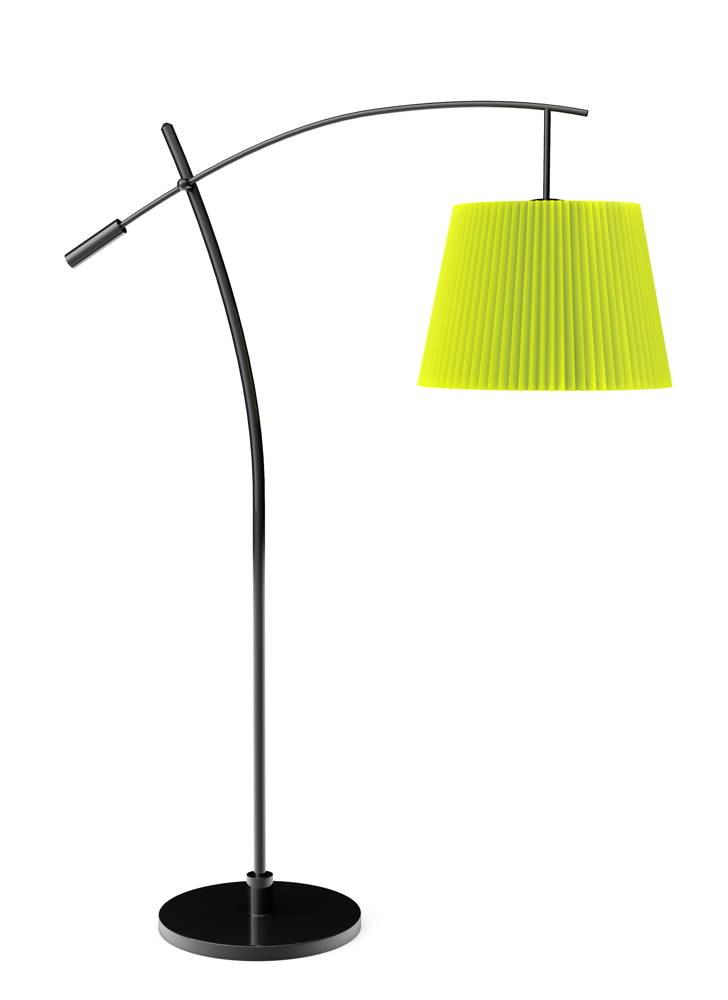 Podłogowa lampa na łuku do salonu nad stół i do jadalni